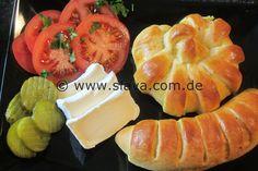 Schnelle Herzhafte – Pizza-Stangen / Schnecken zum snacken « kochen & backen leicht gemacht mit Schritt für Schritt Bilder von & mit Slava