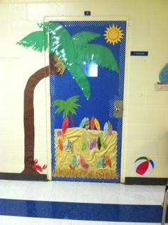 Beach themed door