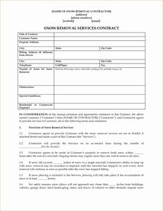 Commercial snow removal contract pdf