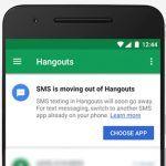 Google abandonne le support des SMS dans son application Hangouts