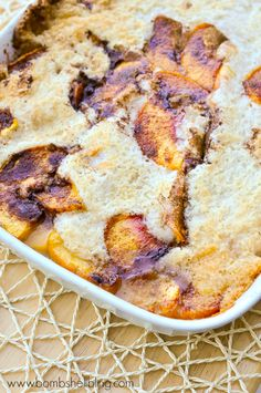 This peach cobbler is UNBELIEVABLE---and really, really easy to make!