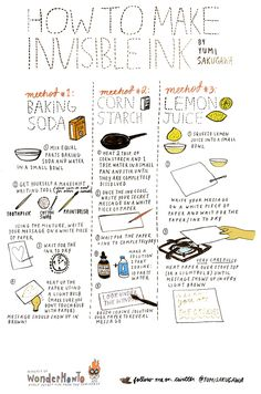 How To Make Invisible Ink For Secret Notes