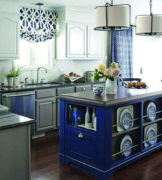 Real Home Inspiration: blue kitchen backsplash ideas to inspire you