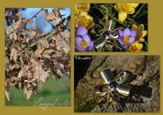 Collier fleurs original laiton