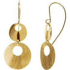 14K Yellow Gold Circle Earrings