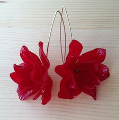 very cool! Sweet Red flower earrings from Zass Designs in Raleigh, NC