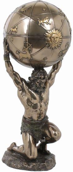 Atlas Holding Up the World Trinket Box Statue Primordial Greek Titan Sculpture Greek Gods And Goddesses, Greek And Roman Mythology, Atlas Tattoo, Greek Titans, Greek Mythology Tattoos, Original Gifts, Statue, Ceramic Clay, Trinket Boxes