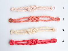 Bracelet de tricotin tressé en coton série par LaMauvaiseGraine