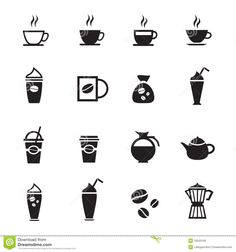 Coffee Icon Free Coffee Icons Set With White