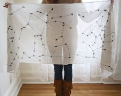 DIY Constellations Scarf. So pretty!