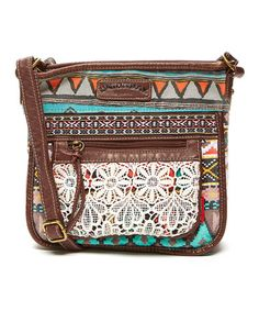 2566215d97 Another great find on  zulily! Teal Geometric Crossbody Bag  zulilyfinds  Hippie Style