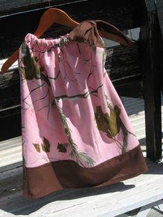 Pink and Brown Pink Camo Real Tree by LemonadeLaneBoutique on Etsy, $25.00