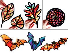 Kids Craft Butterfly Stained Glass Suncatcher Kit by HelloSprout