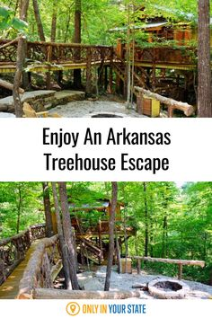 Enjoy a relaxing getaway to a charming treehouse cabin in Arkansas. A perfect romantic weekend escape or family vacation for nature lovers, you'll find this gem on the edge of the Ozark National Forest. The definition of glamping, amenities include a jacuzzi tub and fire pit. Ozark National Forest, Best Bucket List, Treehouse Cabins, Eureka Springs, Hidden Beach, Jacuzzi Tub, Bucket List Destinations, Ways To Relax, Walking In Nature