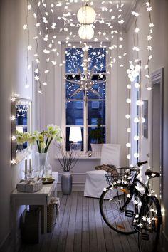 ikea hallway lights - Interesting idea for a small room or hallway