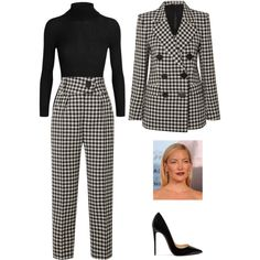 A fashion look from January 2018 by srmlva featuring Gucci, Petar Petrov and Christian Louboutin Workwear Fashion, Work Fashion, Fashion Looks, Fashion Outfits, Fashion Fashion, Fashion Trends, Casual Fall Outfits, Stylish Outfits, Casual Office Wear