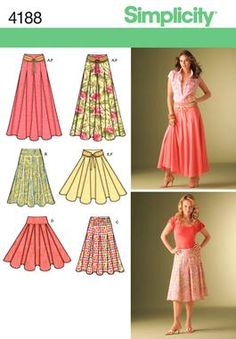 Womens Skirts and Belt Sewing Pattern 4188 Simplicity  perfect one