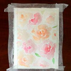 Watercolor Rose Timelapse