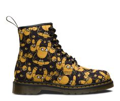 If you don't know Adventure Time, where have you been? The cartoon show charts the surreal, post-apocalyptic escapades of Finn and his magical dog Jake and we love it so much we've put them on our boots. This season, the 8-eye Castel boot in printed T canvas gets the treatment – what adventures will you have with yours?  View All Adventure Time Collection