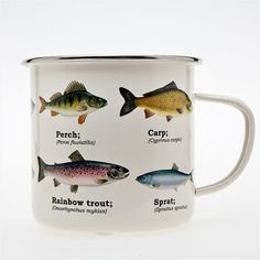 Fish mug, enamel coated, Buy Unique Gifts From CultureLabel.com ($1-20) - Svpply
