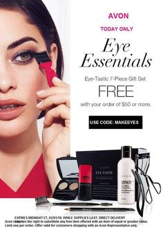Today Only 2/1/2016 #free #eye #essentials 7 piece #set at www.monicahertzog.avonrepresentative.com