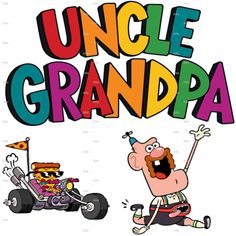Uncle Grandpa & Pizza Steve - Cartoon - Iron On Heat Transfer 8 x 8 - Good Morning, Crafts :: Home Arts & Crafts :: Other Home Arts & Crafts...
