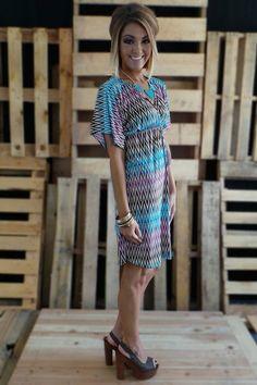 Adelina Short Dress | The ZigZag Stripe