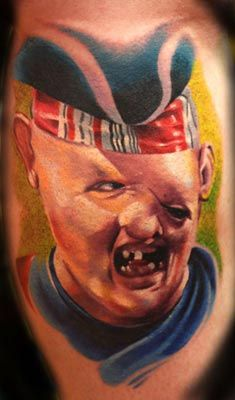 Cory Norris - Sloth from the movie Goonies- I got this tattoo at the National Tattoo Convention in Reno, NV :)