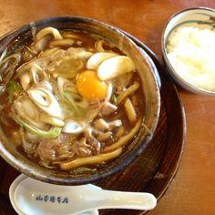 japanese food 「misonikomi  udon」
