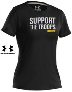Under Armour 'SUPPORT THE TROOPS. I WILL' Womens T-Shirt - UA Freedom Tee Shirt