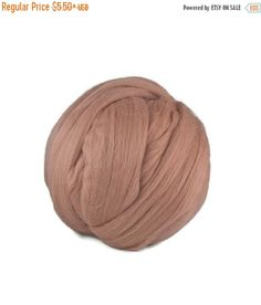 SALE Merino wool roving,19 microns, color: Lace
