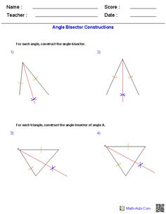 Angles Constructions Worksheets | Ideas for the House | Pinterest ...