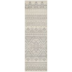 "Amazon.com: Safavieh Adirondack Collection ADR107B Ivory and Silver Southwestern Bohemian Runner (2'6"" x 18'): Home & Kitchen"