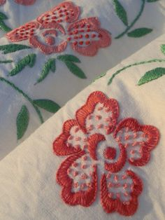 French Vintage Linen Metis Sheet  Hand Embroidered a by GoshnPoche, $160.00