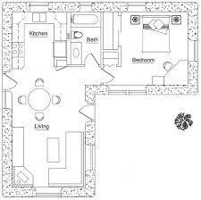 Image Result For L Shaped 50 Sqm Granny Flat Plan L Shaped House Plans L Shaped House Tiny House Floor Plans