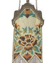Don't you just love this? Brass Mesh Handbag Circa-1930, valued at $200.