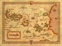 If I ever write a book, it must have a map.  I read with a map in my imagination even if a book doesn't have one! (teresa humphrys)  This is the map of Narnia, C.S. Lewis