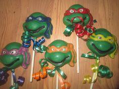 Chocolate Ninja Turtle lollipops suckers by ChocolateonaStick, $20.00