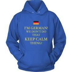 German Keep Calm Shirt