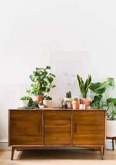 Five Ways to Style a Beautiful Sideboard with West Elm Decor, Sideboard Decor, Room Design, Dining Room Design, Interior Design Inspiration, Mid Century Sideboard, Home Decor, Home Deco, Credenza Decor