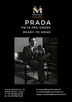 PRADA MEN FW 16/17 | Luxury Italian Brands Provoking and captivating PRADA MEN FALL WINTER 16/17 collection available for a pre -order at Myriam Volterra - The Italian Buying Office for Fashion & Luxury Register on our website to receive updated catalogues with our latest offers!