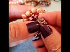 Orecchini 💞 ESTATE - YouTube Beads Tutorial, Earring Tutorial, Beading Tutorials, Beaded Earrings, Gold Rings, Make It Yourself, Youtube, Projects, Jewelry