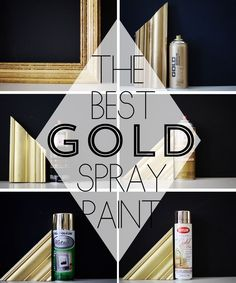 Finding the perfect gold spray paint! Pin now, save for later! // www.brittanymakes.com