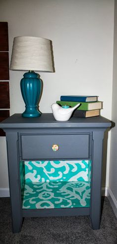 EASY DIY Mod Podge and Wrapping Paper Furniture Makeover