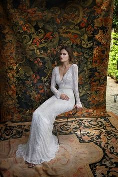 Long Sleeve Gown by Lihi Hod 2016   Article: Unleash Your Free Spirit with Lihi Hod's White Bohemian Collection   Photography: Courtesy of Lihi Hod   Read More:  http://www.insideweddings.com/news/fashion/unleash-your-free-spirit-with-lihi-hods-white-bohemian-collection/2558/