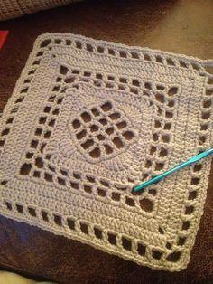 "12"" easy crochet square patterns free | Ravelry: 12"" Windowpane Square. Easy and Free crochet pattern."