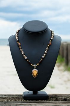 449.00        Cheetah gold drusy with red tiger's eye, Swarovski crystals, Indian silver, and crystal roundelles