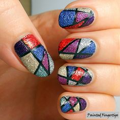 Hi everyone! I'm a little later with today's post, but it's still the 16th! Today's theme is geometric nails. I decided to go with an old favourite of mine, a combination of tape and texture. Tape ...