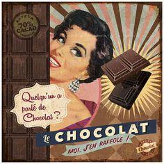 Art Print: Chocolat by Bruno Pozzo : Decoupage Vintage, Vintage Abbildungen, Images Vintage, Decoupage Paper, Vintage Labels, Vintage Pictures, Vintage Cards, Vintage Prints, Vintage Posters