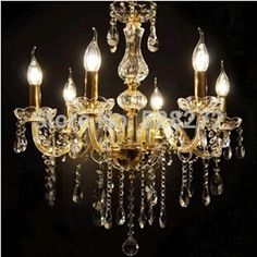 116.25$  Watch now - http://alisnt.worldwells.pw/go.php?t=32280654265 - Hot! 6 lights Transparent Crystal chandelier lamps crystal chandelier led candle lamps living room chandelier
